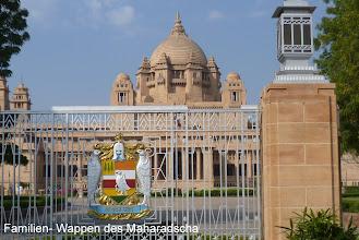 Photo: Das Familien- Wappen des Maharadscha dient auch als Briefkopf offizieller Schreiben der Familie des Fürsten.