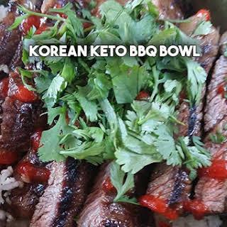Korean BBQ Keto Bowl.