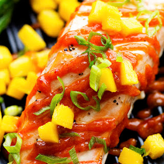Mango Chipotle Barbecue Salmon