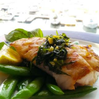 Fresh Cod with Lemon Basil Glaze Recipe