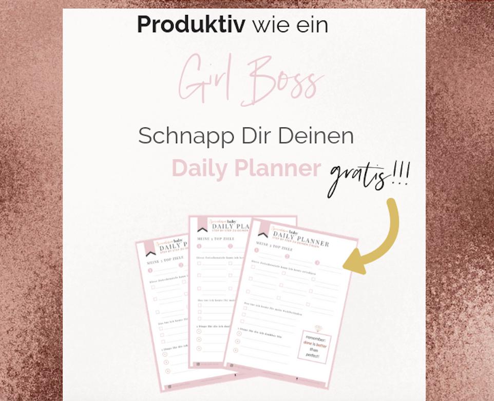 girl boss planner gratis für 2019