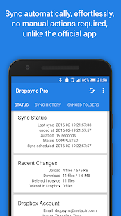 Autosync for Dropbox - Dropsync Screenshot