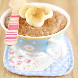 Microwave Peanut Butter & Banana Mug Cake.