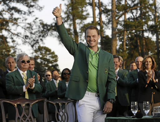 Rub of the green: Englishman Danny Willett celebrates his Masters victory in 2016, but can another first-timer win it in 2017? Picture: REUTERS