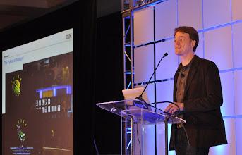 Photo: David Gondek talking about IBM Watson at EclipseCon 2011