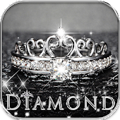 Glitter Diamond Keyboard Theme Diamond Tiara