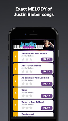 Justin Bieber Piano Tiles for PC