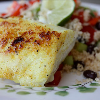 Adobo Red Snapper with Confetti Couscous.