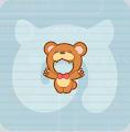 クマの顔出しパネル