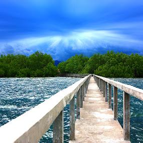 Bridge by Mert Docdor - Buildings & Architecture Bridges & Suspended Structures ( sky, nature, sea, bridge, landscape, philippines )