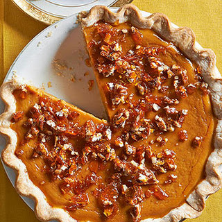 Maple Pumpkin Pie with Salted Pecan Brittle.
