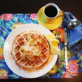 Piña Colada Waffles