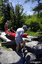 Photo: Kayak portage at Kettle Pond State Park by Justin Lajoie