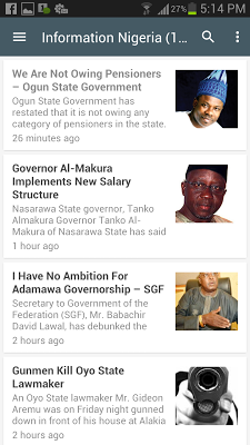 Nigerian Newspaper App - screenshot