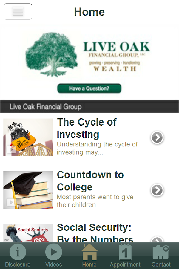 Live Oak Financial Group, LLC- screenshot