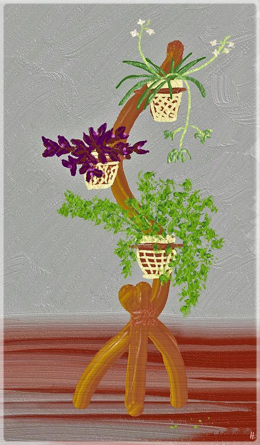 2019-02-08 Zeichenübung Nr. 20 Blumenständer FreshPaint
