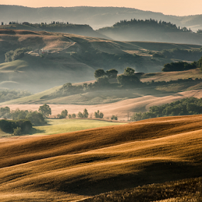 Crete Senesi by Maurizio Martini - Landscapes Mountains & Hills ( mountain, freedom, relax, wisdom, shine, sun, feelgood, sky, nature, sunny, power, sunshine, gold, light, shiny, clouds, twilight, morning, holiday, better, background, outdoor, summer, sunrise, success, natural, early,  )