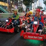 driving in Shibuya in Mario Karts in Tokyo, Tokyo, Japan