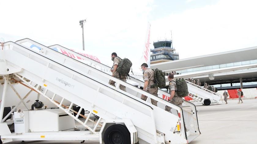 Salida del contingente desde Almería en junio