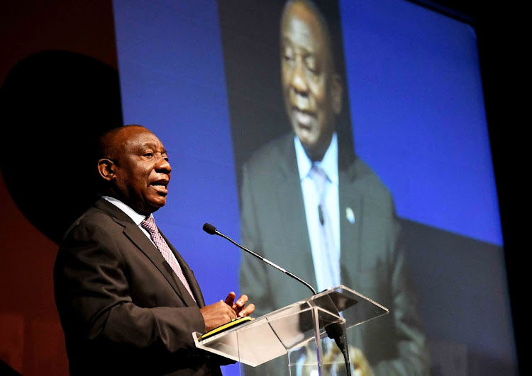 President Cyril Ramaphosa addresses the inaugural Fourth Industrial Revolution SA - Digital Economy Summit at the Gallagher Convention Centre in Midrand on July 5 2019. Picture: GCIS/JAIRUS MMUTLE