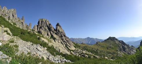 Photo: panorama cestou na Monte d´Oro, pohľad dozadu