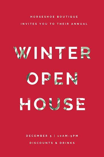 Winter Open House - Postcard template