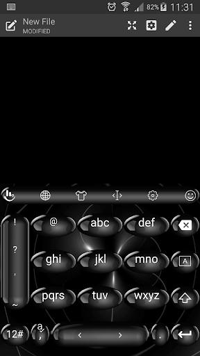 無料个人化AppのSpheresBlack TouchPal Keyboard|記事Game