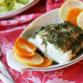 Baked Herbed Halibut Steak Recipes