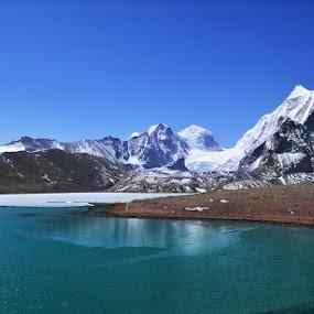Gurudongmar Lake by Sanjib Laha - Landscapes Mountains & Hills (  )