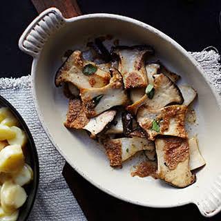Roasted King Oyster Mushrooms.