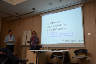 Photo: And Karlis Vitols shared experience about Real Time DWH, first implementation in EU :)