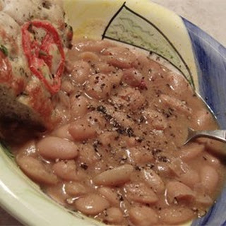 Slow Cooker Ham and Beans.
