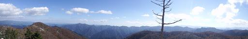 檜塚奥峰からパノラマ