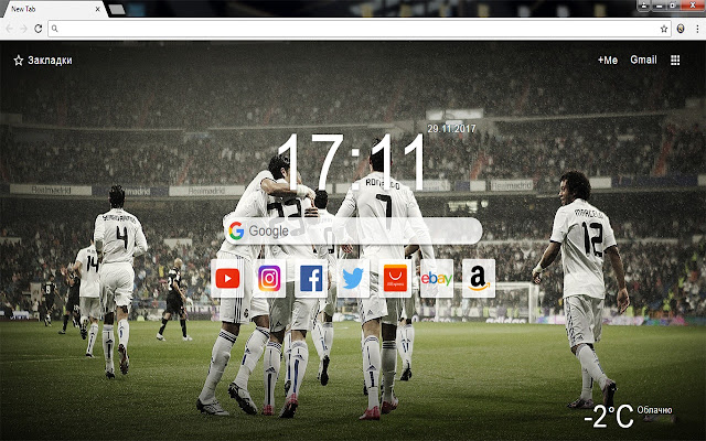 FC Real Madrid - New Tab Wallpapers&Themes HD