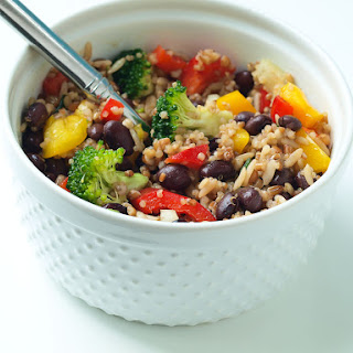 Rainbow Rice and Bean Salad