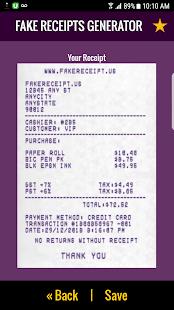 screenshot image - Receipt Generator