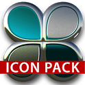 Turquoise silver icon pack HD icon