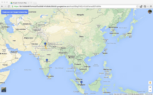 Map My Contacts Chrome Web Store
