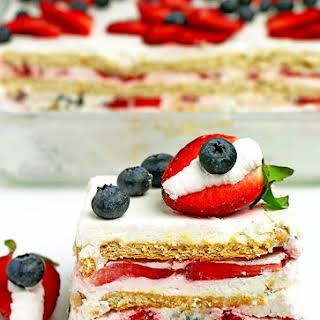 Strawberry Blueberry Icebox Cake.
