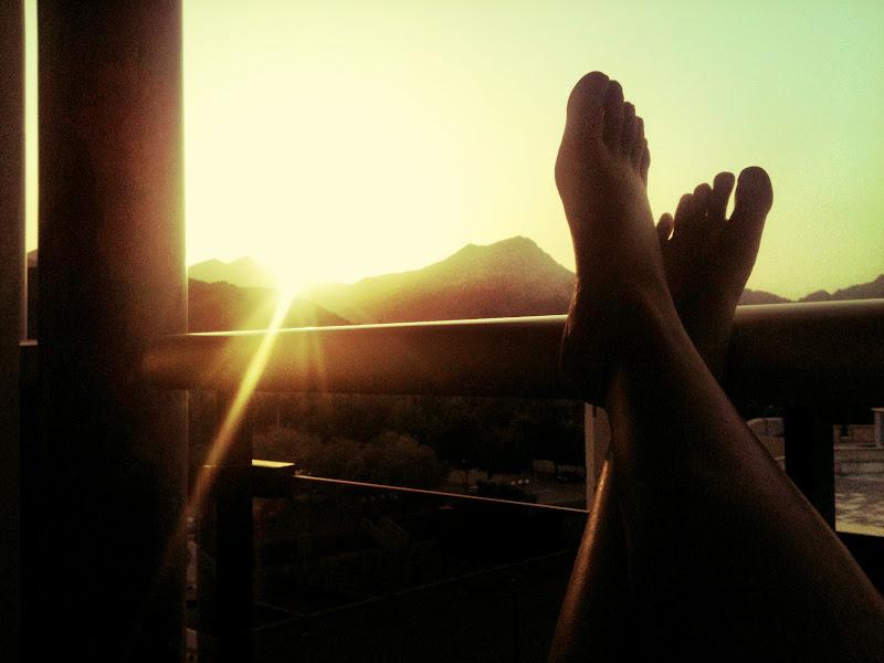 Photo: Enjoying sunset from my balcony at Al Bustan Palace, Muscat