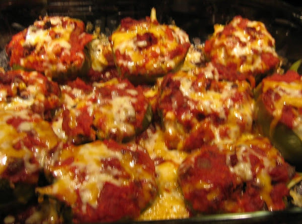 Spicy Spanish Rice Stuffed Peppers Recipe