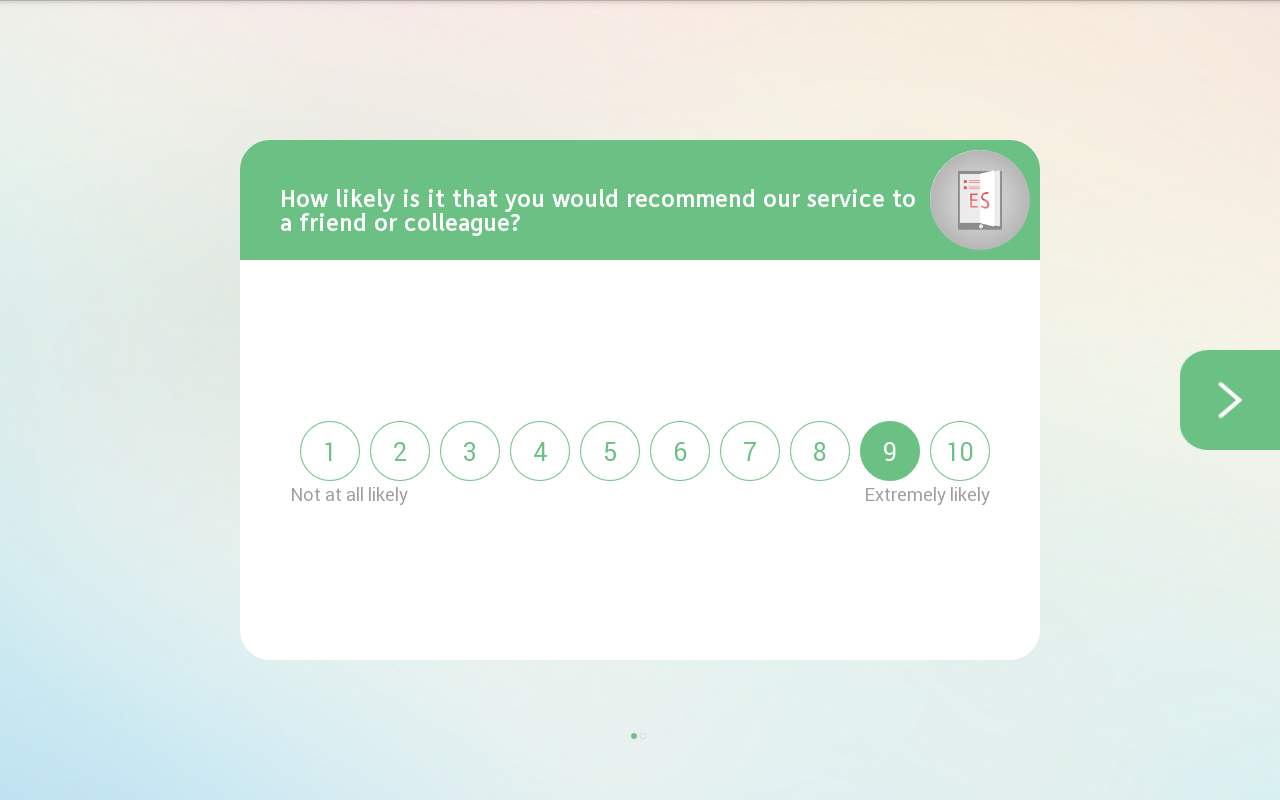 Customer Feedback- screenshot