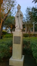 Photo: Statue of St. Augustine, patron saint of Laredo