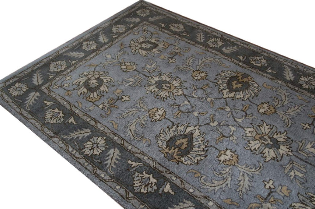 szary  pastelowy dywan persian ziegler wełniany ręcznie tkany 155x245 tradycyjny kwiatowy