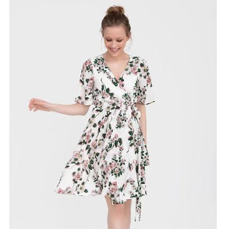Naomi Dress, Flower - Dry Lake