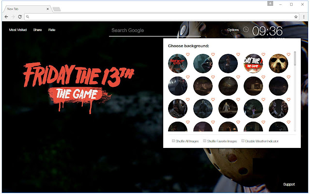 Friday The 13th Wallpaper HD New Tab Themes