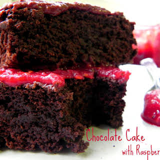 Low Fat Chocolate Cake (no oil added).