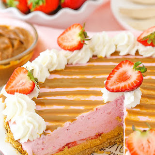 Strawberry Dulce De Leche Ice Cream Pie.