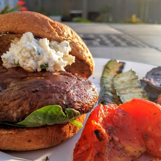 Portobello Goat Cheese Burger Recipe