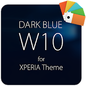 Dark Blue W10 for XPERIA Theme